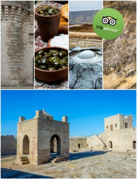 Lunch and Entrance fees included Full day Qobustan, Ateshgah, Merdekan Castle Tour