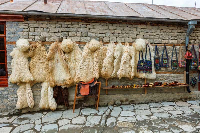 Souvenir shop at Lahij village