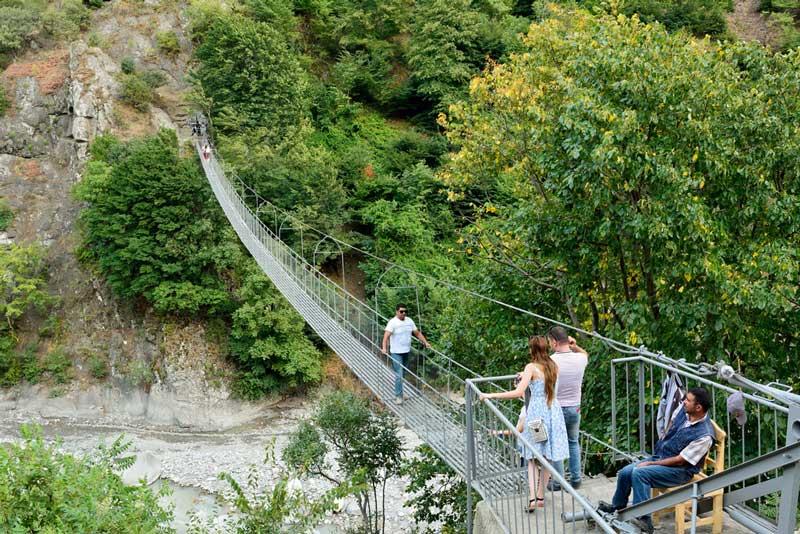 Road to Bassgal village of Azerbaijan