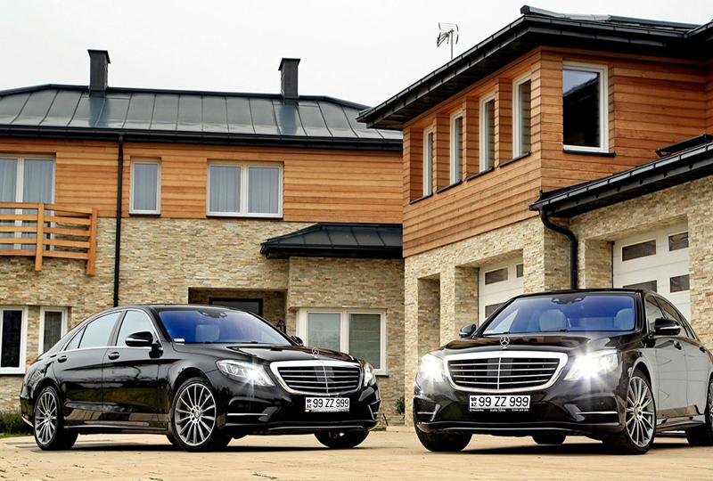 Встреча в аэропорту и роскошный автомобиль Mercedes w222 с водителем